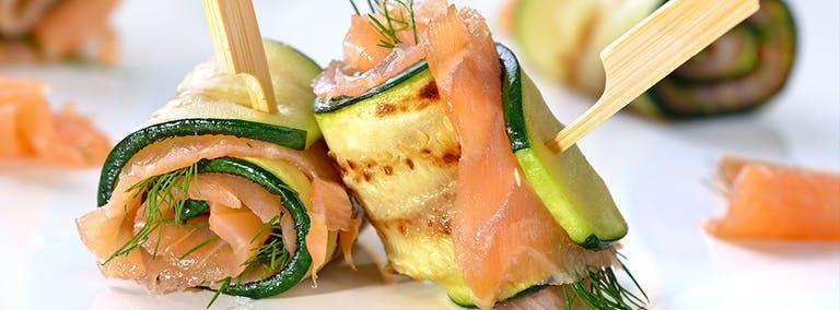 Sushi Dag: Courgette sushi met zalm