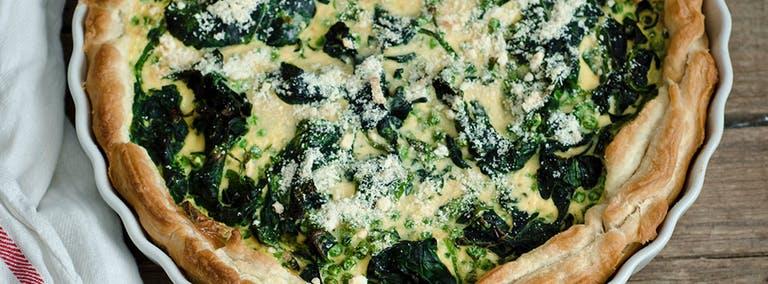Vega Vrijdag: Spinazie taart met geitenkaas