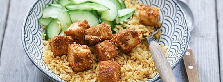 Recept: Krokante tofublokjes