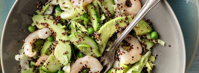 Makkelijke Maandag: Salade met garnalen en avocado