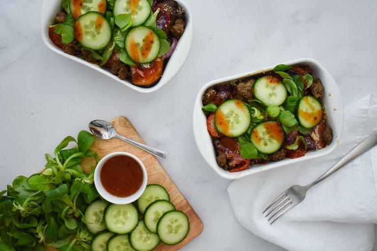 Recept: Kracht-kapsalon met zoete aardappel