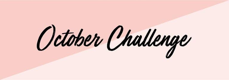 Doe jij mee met de October Challenge?!
