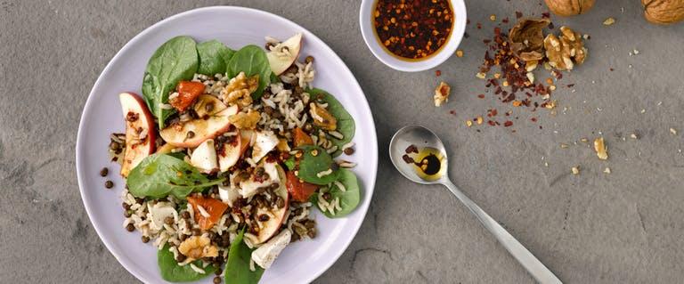 Recept: Linzen-spinazie salade