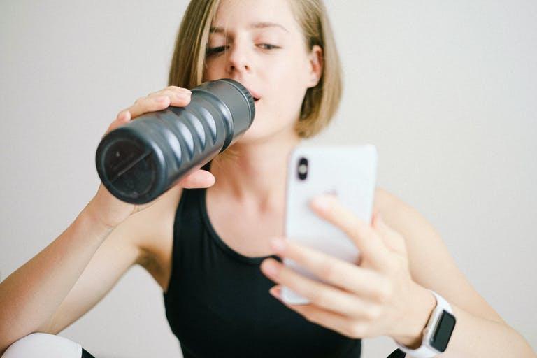 Tips van de diëtist: Water drinken en sporten